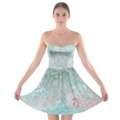 Pastel Garden Strapless Bra Top Dress