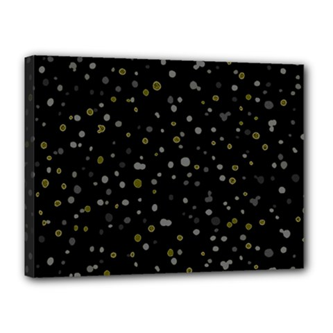Dots pattern Canvas 16  x 12