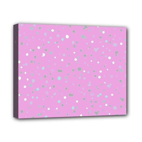 Dots pattern Canvas 10  x 8