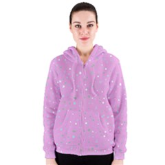 Dots pattern Women s Zipper Hoodie