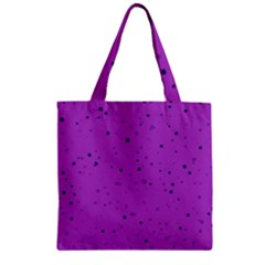 Dots pattern Zipper Grocery Tote Bag