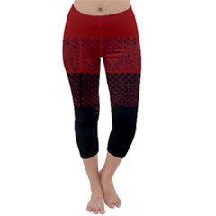 Abstract art  Capri Winter Leggings