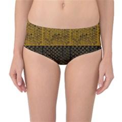 Abstract art  Mid-Waist Bikini Bottoms