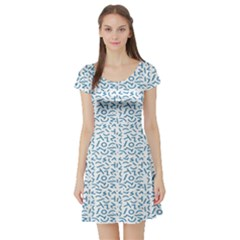 Abstract art  Short Sleeve Skater Dress