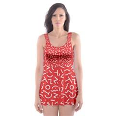 Abstract art  Skater Dress Swimsuit