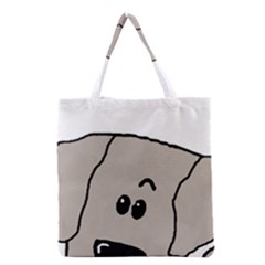 Peeping Weimaraner Grocery Tote Bag