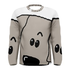 Peeping Weimaraner Men s Long Sleeve Tee