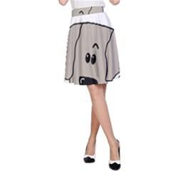 Peeping Weimaraner A-Line Skirt