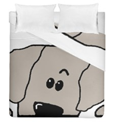 Peeping Weimaraner Duvet Cover Double Side (Queen Size)