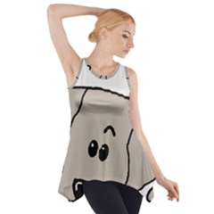 Peeping Weimaraner Side Drop Tank Tunic