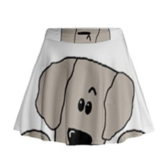 Peeping Weimaraner Mini Flare Skirt