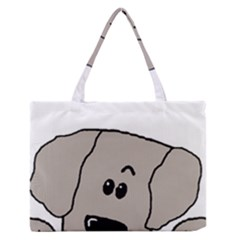 Peeping Weimaraner Medium Zipper Tote Bag