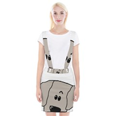 Peeping Weimaraner Braces Suspender Skirt