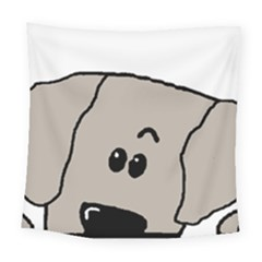 Peeping Weimaraner Square Tapestry (Large)