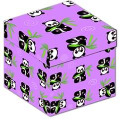 Panda Purple Bg Storage Stool 12