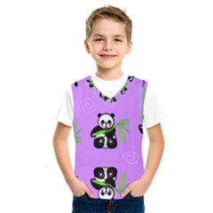 Panda Purple Bg Kids  SportsWear