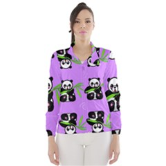 Panda Purple Bg Wind Breaker (Women)