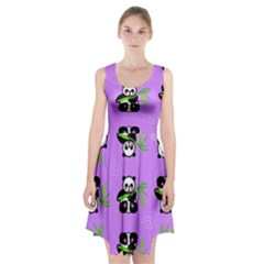 Panda Purple Bg Racerback Midi Dress