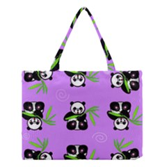 Panda Purple Bg Medium Tote Bag