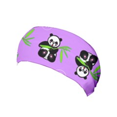 Panda Purple Bg Yoga Headband