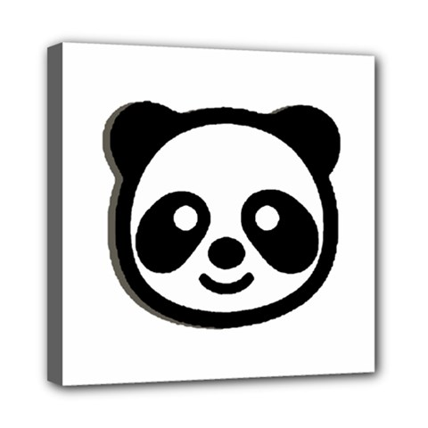 Panda Head Mini Canvas 8  x 8