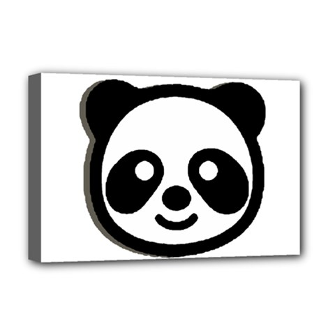 Panda Head Deluxe Canvas 18  x 12