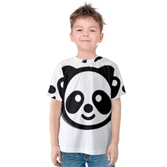 Panda Head Kids  Cotton Tee