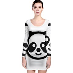 Panda Head Long Sleeve Bodycon Dress