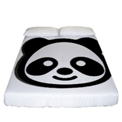 Panda Head Fitted Sheet (California King Size)