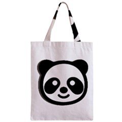 Panda Head Zipper Classic Tote Bag
