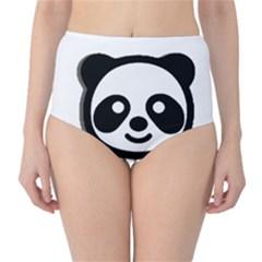 Panda Head High-Waist Bikini Bottoms