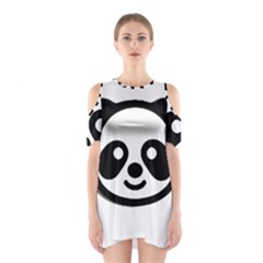 Panda Head Shoulder Cutout One Piece
