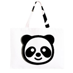 Panda Head Large Tote Bag