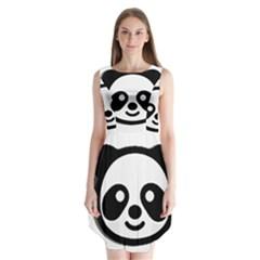 Panda Head Sleeveless Chiffon Dress