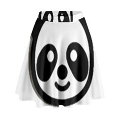 Panda Head High Waist Skirt