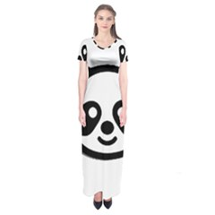 Panda Head Short Sleeve Maxi Dress