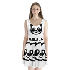 Panda Head Split Back Mini Dress