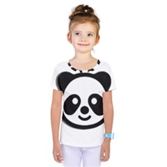 Panda Head Kids  One Piece Tee