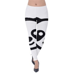 Panda Head Velvet Leggings