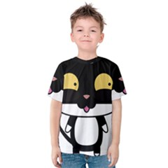 Panda Cat Kids  Cotton Tee