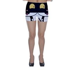 Panda Cat Skinny Shorts
