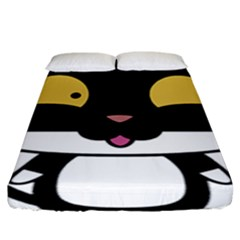 Panda Cat Fitted Sheet (King Size)