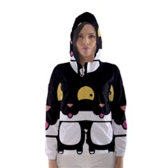 Panda Cat Hooded Wind Breaker (Women)