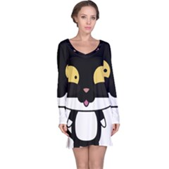 Panda Cat Long Sleeve Nightdress
