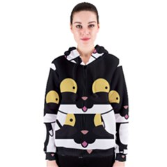 Panda Cat Women s Zipper Hoodie