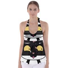 Panda Cat Babydoll Tankini Top