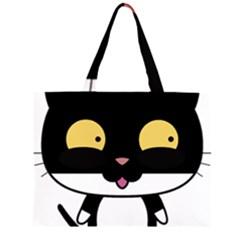 Panda Cat Large Tote Bag