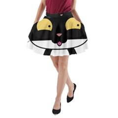 Panda Cat A-Line Pocket Skirt