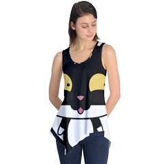 Panda Cat Sleeveless Tunic