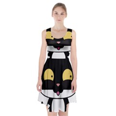 Panda Cat Racerback Midi Dress